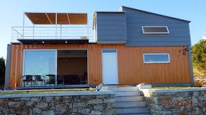 home built from shipping containers amys office