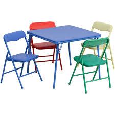 White Folding Kids Table And Chairs Set Kid U0027s Outdoor Furniture Walmart Com