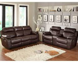 Brown Leather Recliner Sofa Set Sofa Italian Leather Reclining Sofa Set Black Bonded Leather