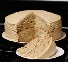 banana cake with butter cream frosting mommalatteskitchen