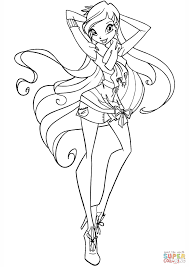 bloom fairy of the dragon flame coloring page click the winx club