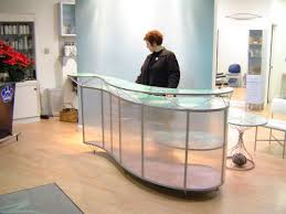 Custom Made Reception Desk Custom Translucent Reception Desk By Aaron Schroeder Art