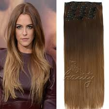 Hair Extension Clips by Dip Dye Clip In Long Curly Straight Synthetic 5 16 Clips Ombre