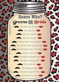 bridal shower question free printable his household shower search