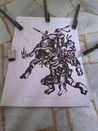 teenage mutant ninja turtles sketch by saintvinod on deviantart