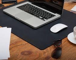 Laptop Desk Accessories Leather Desk Mat Leather And Felt Desk Pad Laptop Desk Mat