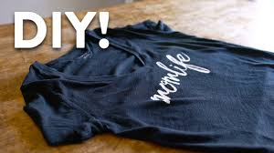 Make Your Own Name Brand Clothes Diy Custom T Shirt Printing Tutorial Made Easy Youtube