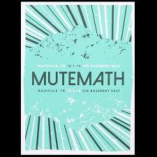 mutemath 2015 fall tour posters mutemath