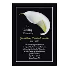 memorial service invitations u0026 announcements zazzle canada