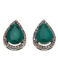 emerald earrings emerald earrings hsn