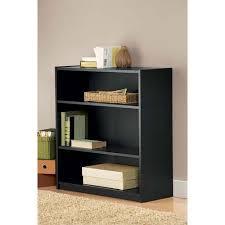Mainstays 5 Shelf Bookcase Alder Mainstays 3 Shelf Bookcase Black Walmart Com