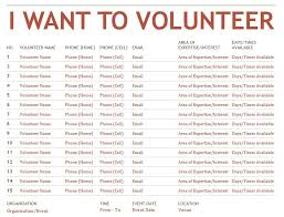 Volunteer Sign Up Sheet Template 9 Free Sle Volunteer Sign Up Sheet Templates Printable Sles