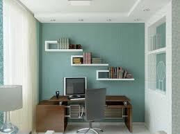 Small Brown Desk Beautiful Small Office Room Design Simple White Curtain Unique