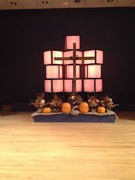 church stage at thanksgiving stage design church