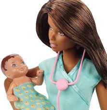 amazon com barbie careers african american baby doctor doll