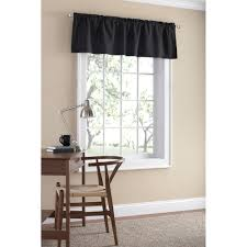 Valances For La Mainstays Microfiber Curtain Valance Walmart Com