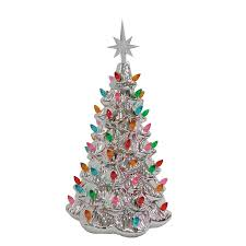 shop living pre lit tree with constant white led lights at