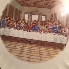 sanders mfg co lord s supper plate sanders mfg co lord s supper decorative 10 plate edition