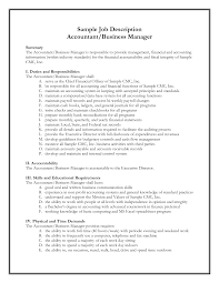 Job Profile In Resume by Accounting Resume Description Resumesdirection Com