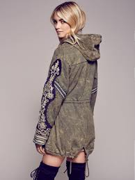 Free People Parka Free People Golden Quills Military Parka In Green Lyst