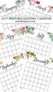 printable calendar 2017 for planner printable calendars for a more floral 2018 printable calendars