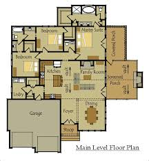 single story house floor plans one story cottage style house plan