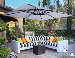 10 Patio Umbrella 10 Square Cantilever Umbrella Akzsq10 Swv Treasure Garden