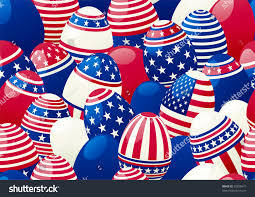 American Flag How Many Stripes Seamless Background Easter Eggs American Flag Stock Vector