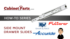 how to install side mount drawer slides cabinetparts com youtube