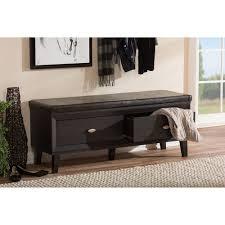 baxton studio emmett modern and contemporary 2 drawer dark brown