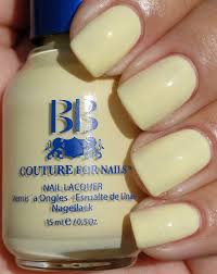 buy best and soft light pale milky yellow creme nail polish color