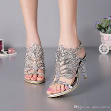 wedding shoes dublin stiletto heel sandals strappy summer sandals black rhinestone