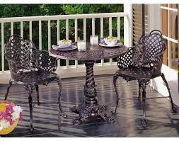 small wrought iron table luxury small patio table and chairs from wrought iron furniture