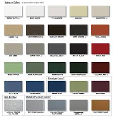 kynar series metal roof color chart colored metal roofs union