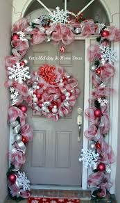 front door cool garland around front door design attach garland