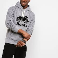 roots salt and pepper mens original kanga hoody roots