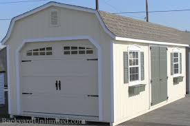 gable box with window garages u0026 large storage single car garages backyard unlimited