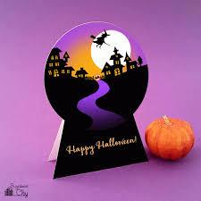 diy halloween snow globe card bugaboocity
