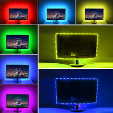 pc led light strips 30led m dc 5v usb cable rgb led strip light ribbon string tape 1m