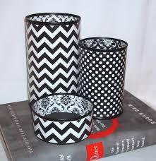 Black And White Desk Accessories Black White Desk Accessories Chevron Damask Polka Dot Pencil