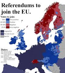 1972 Election Map by Detailed Map Of Referendums To Join The Eu Oc Europe