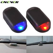 security led lights car onever simulate solar car anti theft alarm led light imitation