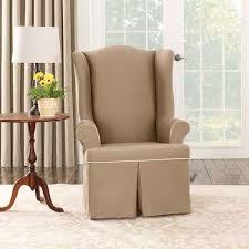 Slipcover For Wingback Chair Design Ideas Slipcovers For Wingback Chairs And Ottomans In Enticing Interior