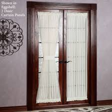 reverie snow voile semi sheer door panels