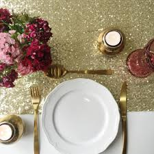 gold table runner and placemats sparkly gold sequin table runner the sweet party shop