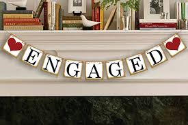 congratulations engagement banner engaged engagement party bunting banner decoration photo prop