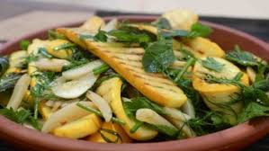 cuisine courgette charred courgette bunya nuts and herbs recipes food uk