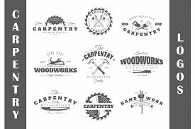 set of vintage carpentry logos logo templates creative market