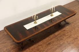 Henredon Coffee Table by Sold Henredon Aston Court Signed Banded Dining Table 3 Leaves