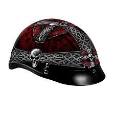 Celtic Cross Half - leathers celtic cross helmet hld1008s harley motorcycle